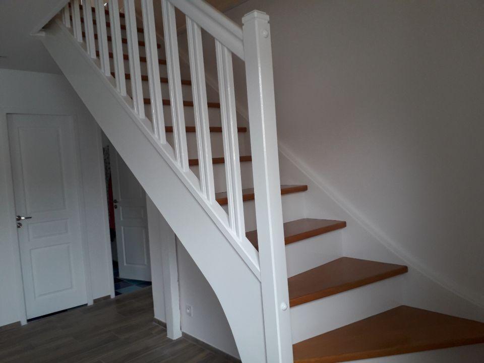 Escalier blanc peintures&sols28