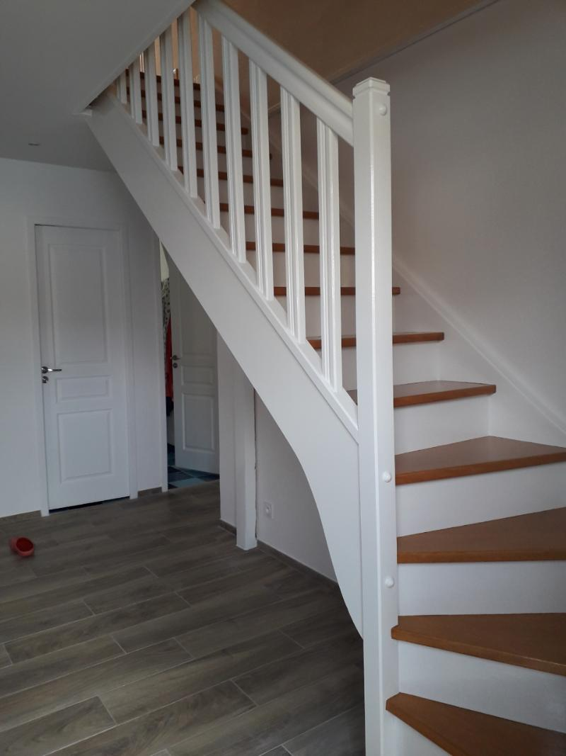 escalier bois blanc lasure marches (1)