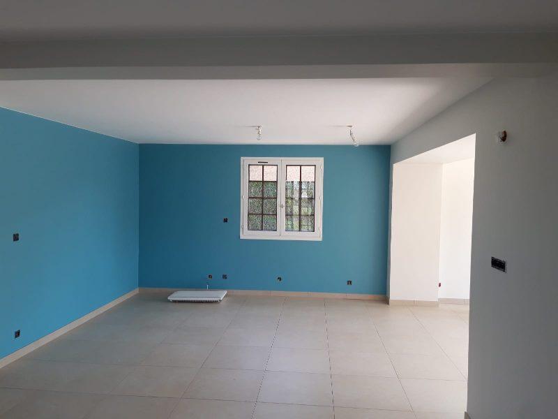 peinture mur bleu &sols28